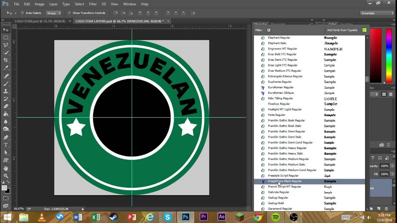 TEMPLATE INCLUDED* How to make a circle logo in Photoshop - YouTube