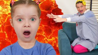 The floor is lava challenge trouble + new mixed stories with mom and Nicole