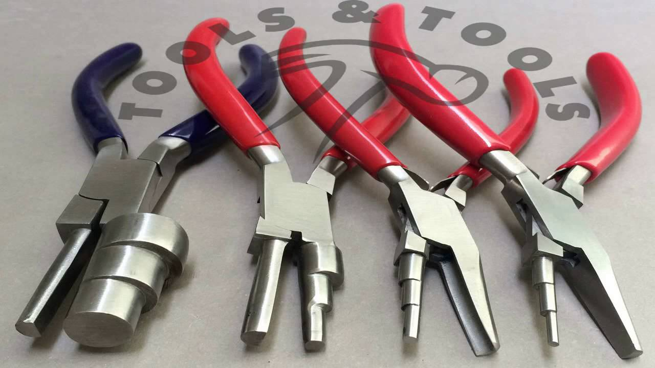 Wire Looping Pliers 3 Step Round Nose And Concave New - YouTube