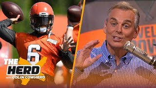 Colin reacts to Baker's beer chugging & says Dak is beholden to Amari — not Zeke | NFL | THE HERD