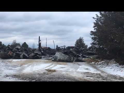 White Cloud Department of Public Works building destroyed in fire
