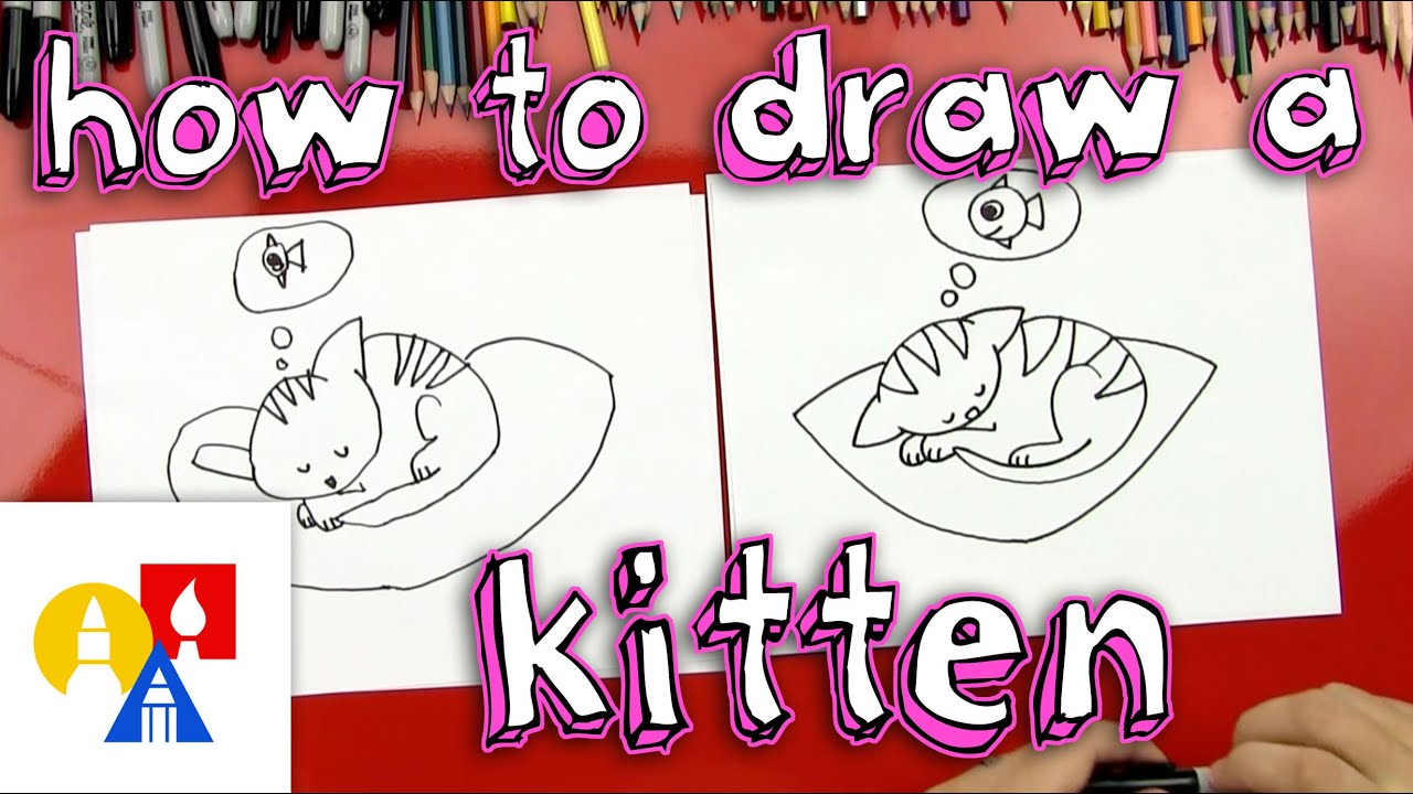 How To Draw A Kitten (For Young Artists) - YouTube