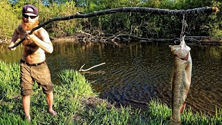 ULTIMATE SURVIVAL FISHING CHALLENGE!!! | No Rod, No Hooks, No Line, No Bait (no problem!)