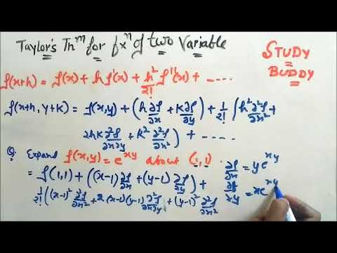 Taylor's Theorem for function of two Variables