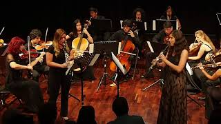 """""""Virgenes de Sol"""" para dos clarinetes y orquesta de cuerdas"""