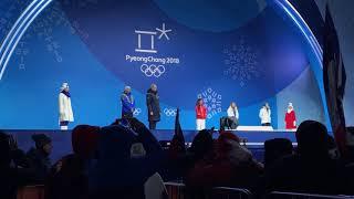 Women's Halfpipe Medal Ceremony