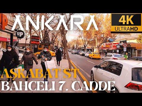Ankara City Walk in Bahcelievler 7th Street |  Walking tour in the most famous street in Ankara [4K]