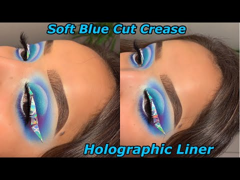 Soft Blue Cut Crease and Holographic Liner Tutorial thumbnail