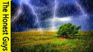 GUIDED SLEEP MEDITATION: Talk-Down with Thunder & Rain - 1 Hour