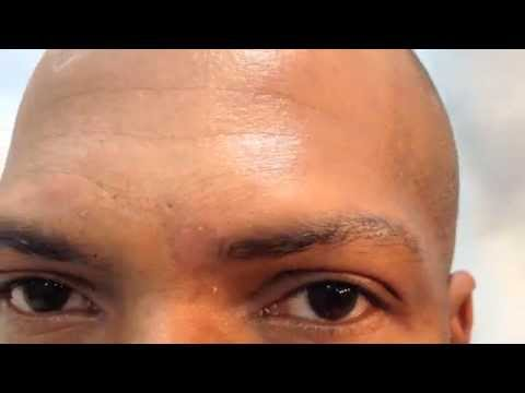 african american mens tattooed eyebrows micro hair