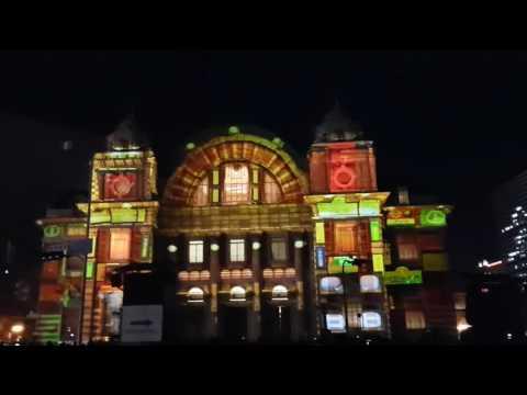 3D mapping @Osaka City Hall - Winter Hikari Renaissance Illumination