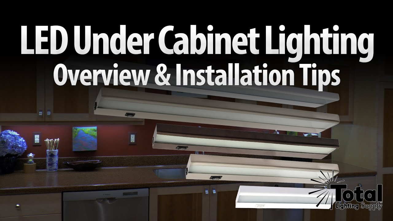 LED under cabinet lighting overview u0026 installation tips by Total Recessed Lighting - YouTube  sc 1 st  YouTube & LED under cabinet lighting overview u0026 installation tips by Total ...