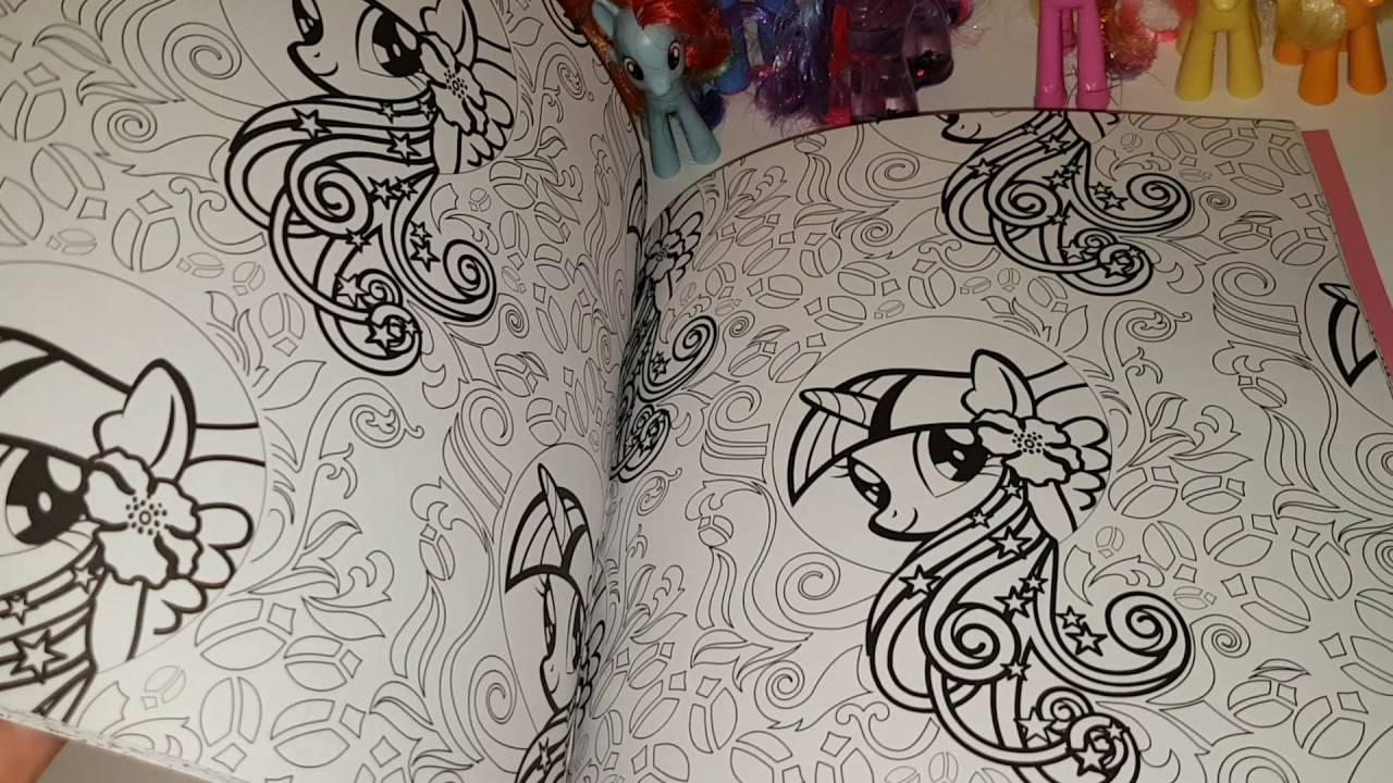 My little pony creative colouring book and some of the pony ...