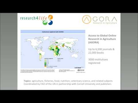 Webinar@ASIRA: Access to Global Online Research in Agriculture (AGORA)