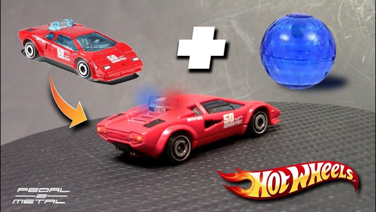 Detailing Hot Wheels Lamborghini Countach Pace Car Adding Working