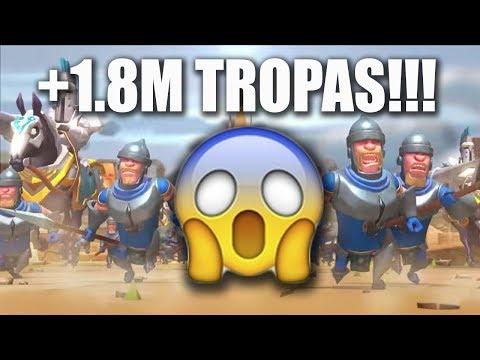 CREANDO 1.8M DE TROPAS (T3 + T4) | TOP 1 INFIERNO | Lords Mobile | Zou