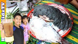 วันหยุดสุดป่วน-ชวนกินปลาเผาโคลน-กับ-สเลอปี้ทำเอง-พี่แชมป์น้องปาน-happykidztv