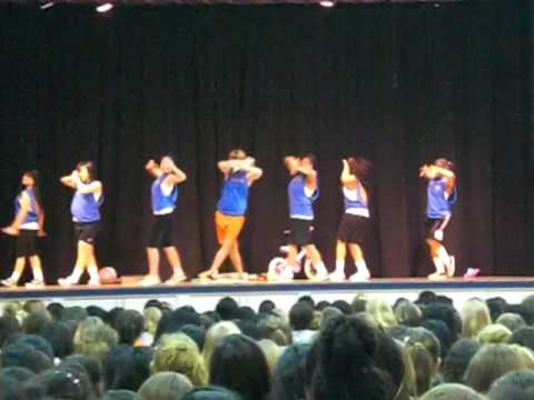 Notre Dame High School: 8th Grade Day: Sophomore Cheerleaders: 11/7/08