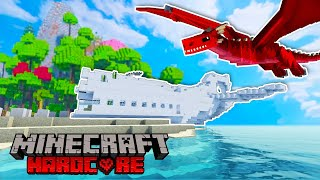 WE CRASHED on a HARDCORE SURVIVAL Minecraft Island...