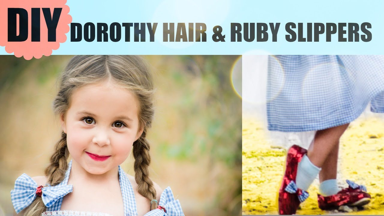 sc 1 st  YouTube & DIY Dorothy Ruby Slippers and Hair - Wizard of Oz Costume - YouTube