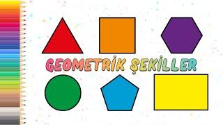 Geometrik Şekiller Nasıl Çizilir ? (Çooook Kolay) - How To Draw Geometrical Shapes? (Very Easy)