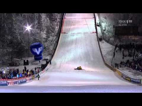 Andreas Wellinger - Kuusamo 2014 - terrible fall (very bad looking accident)!