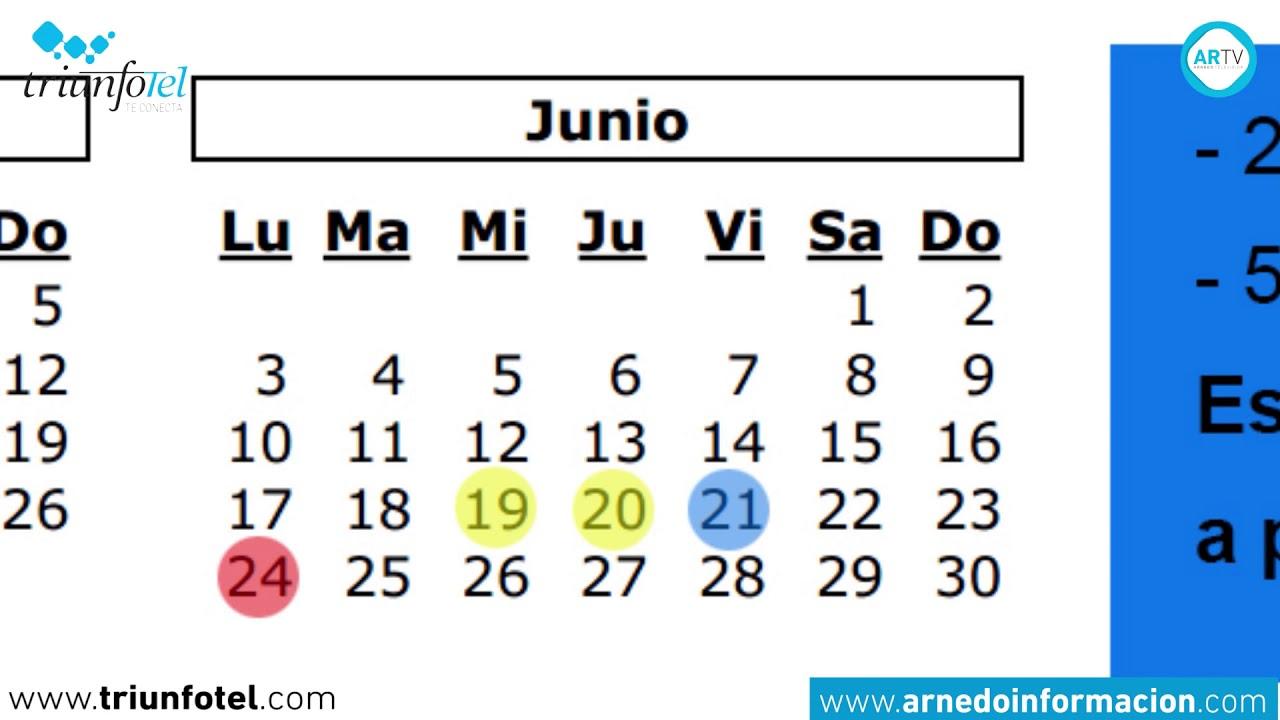 Calendario Junio Julio 2020.Calendario Escolar 2018 2019
