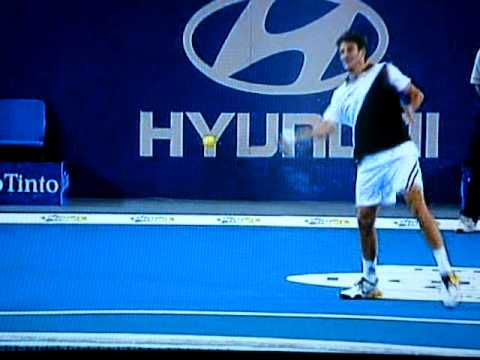 Andy Murray hit by Laura Robson
