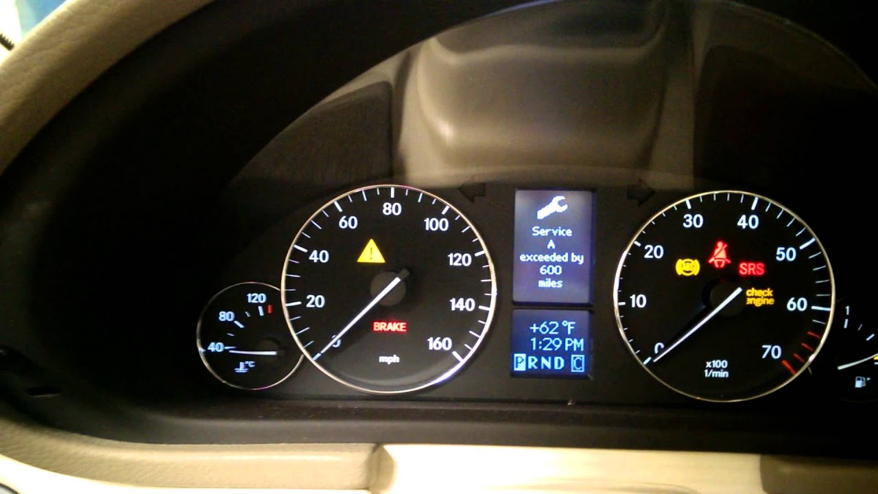 07 mercedes benz c280 service reset youtube for What is the b service for mercedes benz