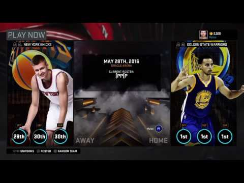HOW TO CREATE AND PLAY YOUR OWN ROSTER ON NBA2k16