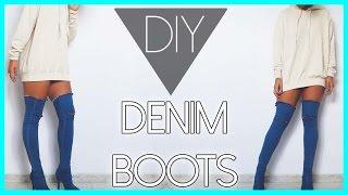 DIY DENIM BOOTS | DIY BOTAS DE MAHON | NIXHY1
