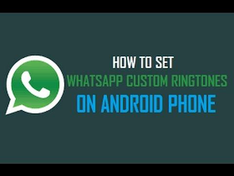 How To Set The Ringtone On Whatsapp Of Your Choice-whatsapp पर अब लगाये अपनी मनपसंद रिंगटोन -HINDI