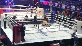 93kg: Osman Abdulazizov (Kyrgyzstan) vs. Serik Abirov (Kazakhstan). 2017 World MMA Championships
