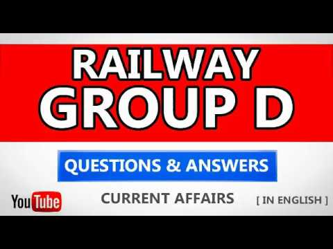 RAILWAY GROUP D Current Affairs / Current GK In English ( RRB GROUP D ) - Digital Education