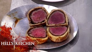 Gordon Ramsay Confused Over Chefs Bringing Up Raw Wellington | Hell's Kitchen