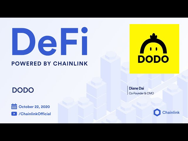 DODO and Chainlink Live Q&A: Decentralized Oracles Powering the DODO Proactive Market Maker (PMM)