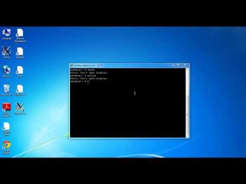 Xeyes or Xclock : Error: Can't open display