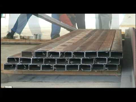 structural steel fabrication - YouTube