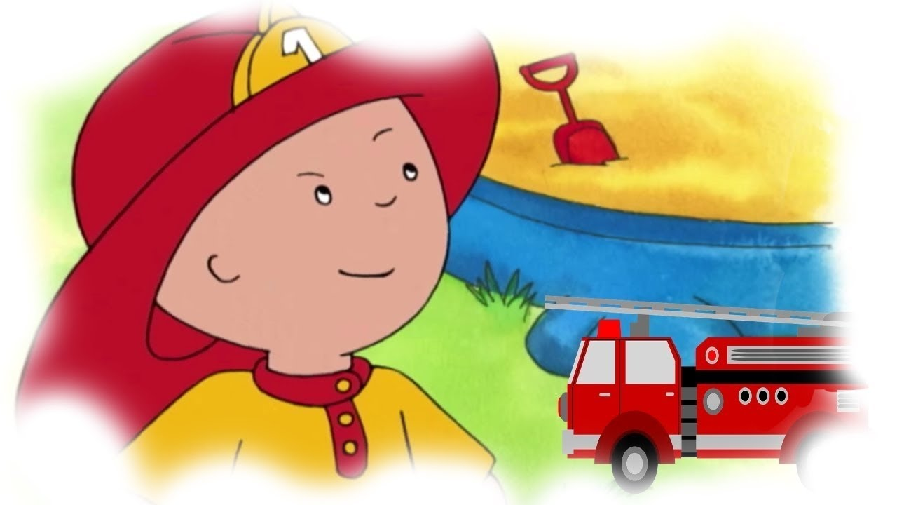 funny animated cartoons kids caillou the fireman watch