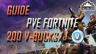 [GUIDE] FORTNITE - JcE / 200 V-Bucks par jour