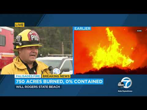 Pacific Palisades brush fire: Evacuations remain for some Topanga ...