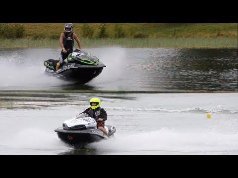 JETSKI DRAG RACING - World's fastest stock engine Kawasaki - YouTube