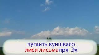 Вай, луга, луга- эрзянская народная песня ( караоке)