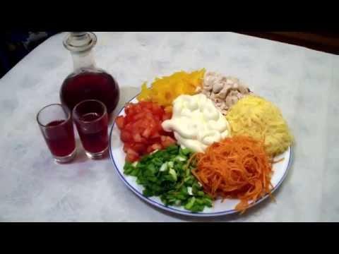 рецепт калейдоскоп с фото салата мясом с