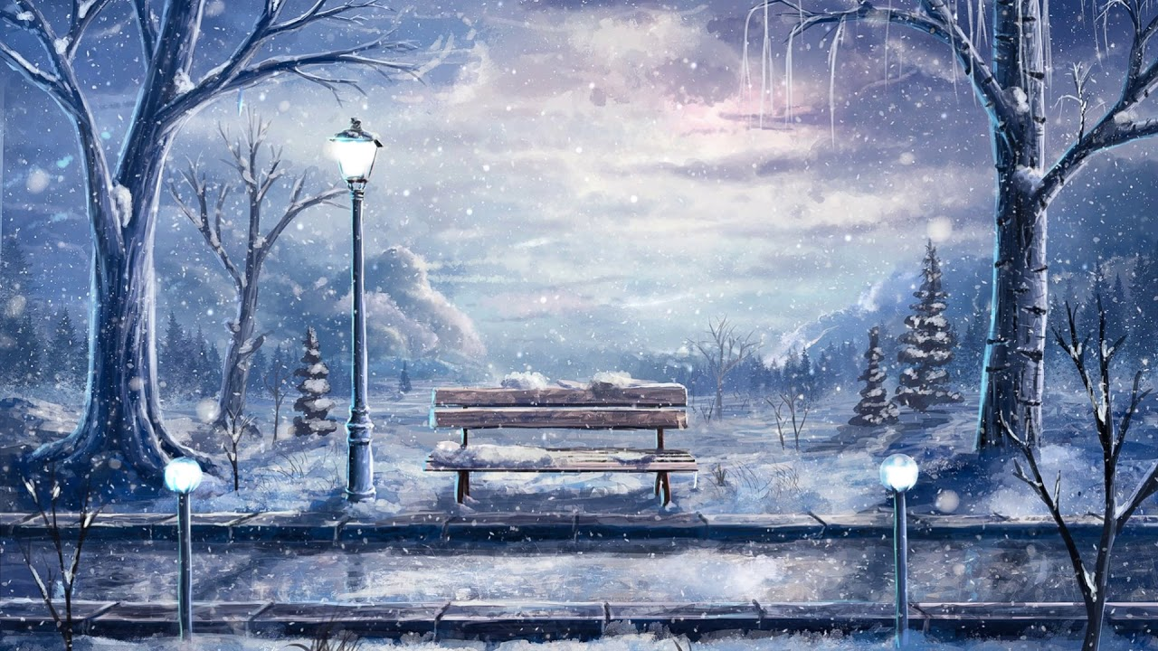 Anime Winter Scenery Wallpaper