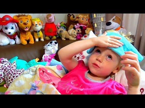 Настя заболела простудой Смотрим мультики Лайк Настя и показываем игрушки - Видео приколы ржачные до слез