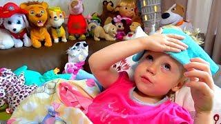 Настя заболела простудой Смотрим мультики Лайк Настя и показываем игрушки