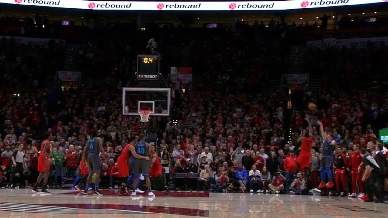 luka doncic hits impossible shot to tie game