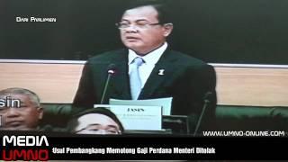 Usul Memotong Gaji Perdana Menteri Di Tolak