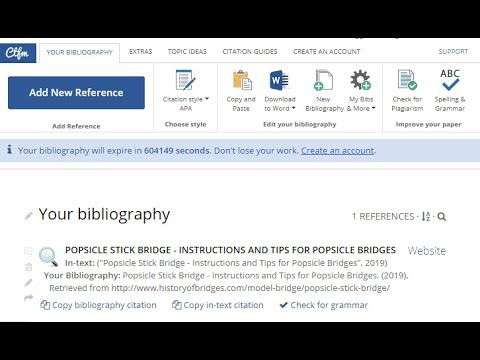 How to create references in APA style